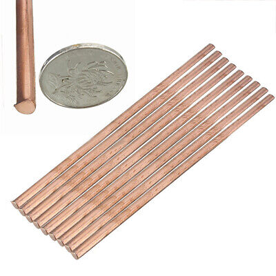 1pc 99.9% Pure Solid Copper Cu Metal Rod Tube Cylinder Bar Tool 6 x 200mm
