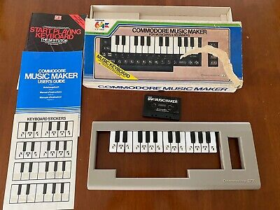 Commodore 64 Music Maker - Working - Includes Box/Manuals/Stickers/Cassette Tape