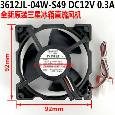 For NMB 3612JL-04W-S40 12V 0.3A For LG Haier and other refrigerator cooling fans
