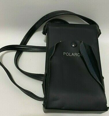 Vintage Polaroid SX-70 Instant Film Camera Black Case Only Folding w/ Strap