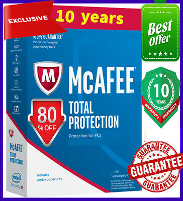 McAfee Total Protection 2020 Antivirus 5️⃣Devices 🔟 Years✅ Ínstant dєlivery 🔑