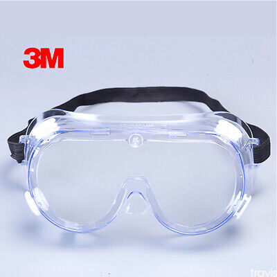 3M Protective Goggles Anti Fog Protection Eye Shield Transparent Safety Glasses