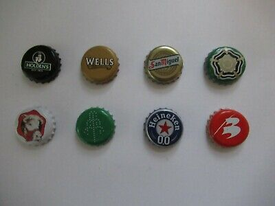 8 x Beer Bottle Tops - Beer Bottle Caps - Crown Caps - All Different - Lot 9