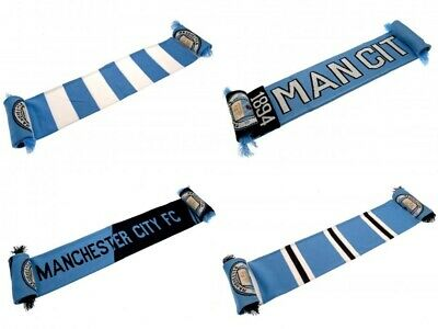 Official Manchester City Man City MCFC Blue Football Fan Supporter Scarf Gift
