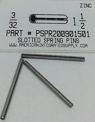 3/32X1-1/2 Slotted Spring Pin Steel Zinc Plated (30)