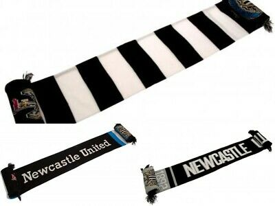 Official Newcastle United NUFC Geordie Magpies Football Fan Supporter Scarf Gift