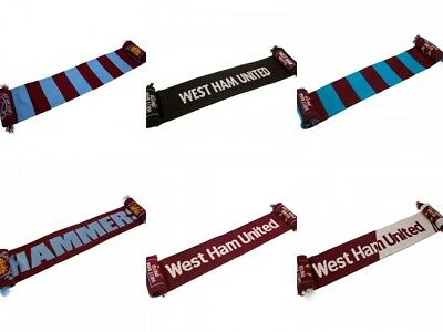 Official West Ham United WHU Hammers Football Fan Supporter Scarf Gift