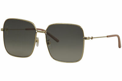 Gucci Women's Gucci Logo GG0443S GG/0443/S 001 Gold Square Sunglasses 60mm