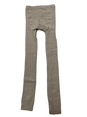 Mini Boden Cable Knit Footless Tights - Oatmeal Marl Beige. Age 9-10. RRP £10