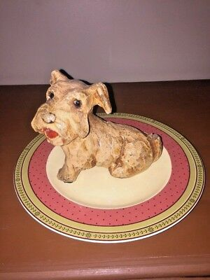 Waverly Garden Room Plate as Rug Australian Border Terrier Dog Statue TOTO OZ