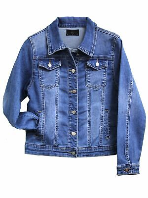 Girls Denim Jacket Blue Jean Jacket Stonewash Age 4 5 7 8 9 10 12 13 Years