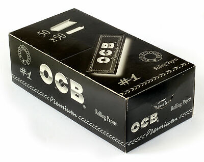 OCB Single Premium No1 Rolling Paper Regular Size 70mm - 2500 Papers (Full Box)