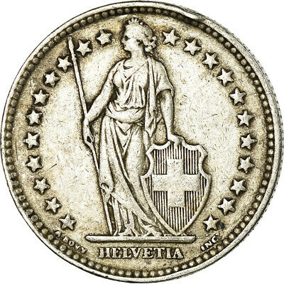 [#519166] Coin, Switzerland, 2 Francs, 1939, Bern, VF, Silver, KM:21