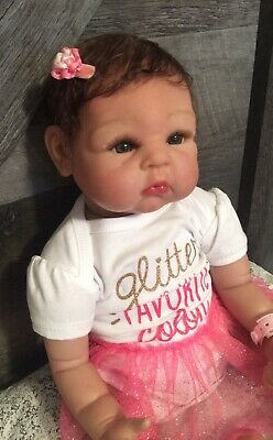Icradle Reborn Girl Doll Soft Silicone Vinyl Baby Weighted Around 5lbs