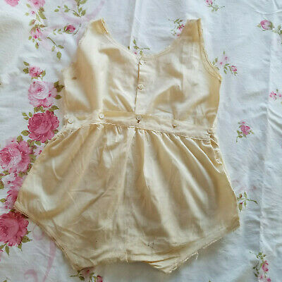 Vintage Victorian Child Cotton All in One Drop Drawer Panty Panties Underwear