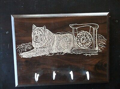 Chow Chow- Beautifully hand engraved Leash Rack by Ingrid Jonsson.