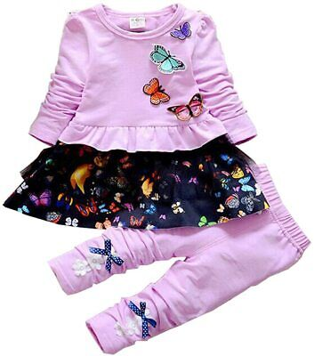 Infant Little Baby Girls Clothing Set 2 Pieces Set Long Sleeve T Shirt and Skirt