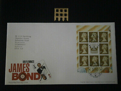 Gb Stamps - 2008 - James Bond Tennant Pane First Day Cover