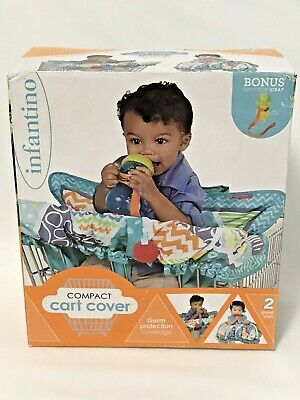 Infantino Compact Shopping Cart Or Highchair Cover W/ Sippy Cup Strap + Teether