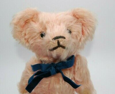 Pink Fluffy likely 1920's/30's Antique Old Vintage German Mohair Teddy Bear