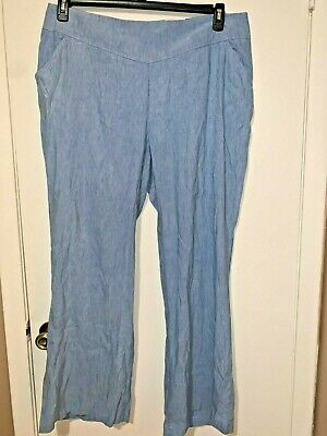 Women's Pants INC Wide Leg Regular Fit Plus Light Blue Size 20W NWT $16W
