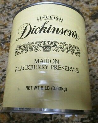 """""""Dickinson""""  8.0025 POUNDS Can  MARION BLACKBERRY PRESERVES    MRE MEAL INCLUDED"""