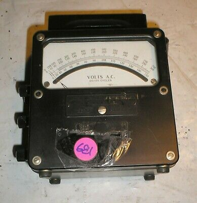 Daystrom Weston Electrical Model 433 AC Voltmeter Volts A.C.