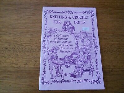 Knitting & Crochet For Dolls Book - L & A Dolls Pty Ltd - Good Condition -