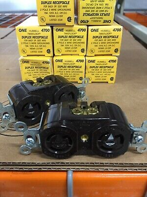 New Hubbell 4700 Twist Lock Duplex Grounding Receptacle 3 Wire 15 Amp125 Vac