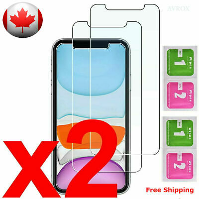 Premium iPhone 11 X, XS, XR, XS MAX 6s 7 8 Tempered Glass Screen Protector 2PACK