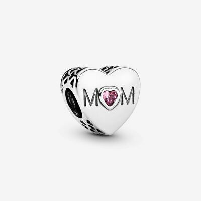 Genuine Pandora Sterling Silver Mum Love Charm 791881PCZ ALE 925 With Pouch