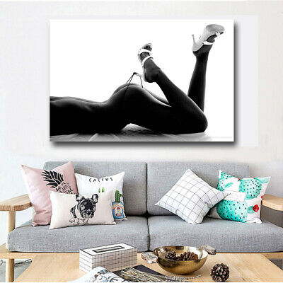 Canvas paintings artwork 1 panels photo prints woman Sexy body wall art picture