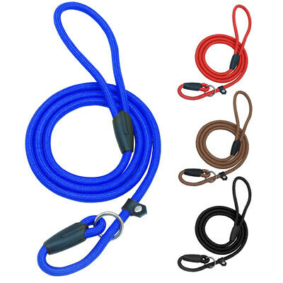 Cotton pet dog training slip lead available in 5 colours XG001