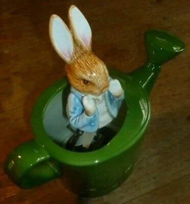Beatrix Potter Peter Rabbit Ceramic Music Box.