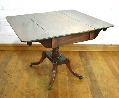 Antique Pembroke occasional table / folding side table