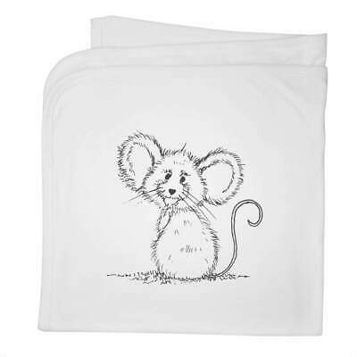 'Cheerful Mouse' Cotton Baby Blanket / Shawl (BY00012712)