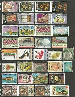 BRITISH COMMONWEALTH - WEST INDIES - Collection of 53 fine used or unused stamps