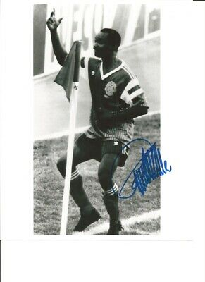 Roger Milla Cameroon Signed 10 x 8 inch authentic football photograph SS876E