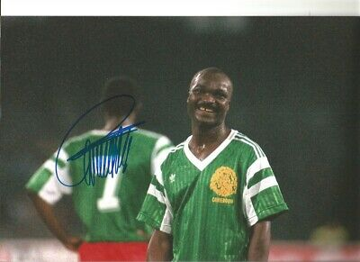 Roger Milla Cameroon Signed 10 x 8 inch authentic football photograph SS876K