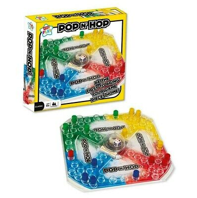 Pop 'n Hop Game Frustration Childrens Kids Popping Dice Board Game Family Fun