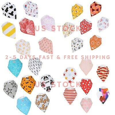 Baby Bandana Drool Bibs Unisex 14-Pack Gift Set 100% COTTON - BEST DEAL.