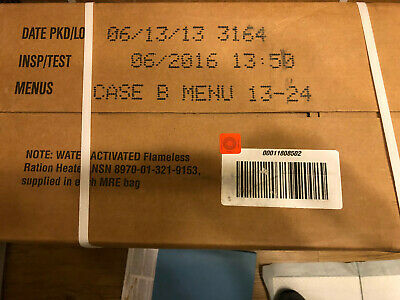 1 Case MRE Sealed and stored in Climate Controlled Location