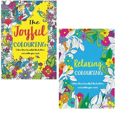 A4  Spring Joyful MIND RELAXING COLOURING BOOK Adult Stress Relief Therapy