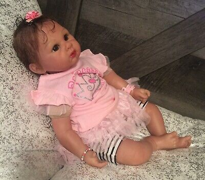 Icradle Reborn Girl Doll Soft Silicone Vinyl Baby Weighted Around 4lbs.