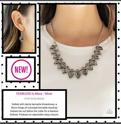 Paparazzi Jewelry Necklace ☆ Life Of The Party  Fearless Is More Silver