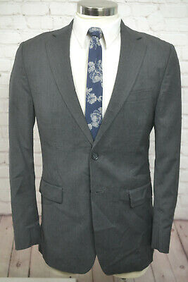 Banana Republic Mens Gray LANIFICIO CERRUTI Flat Front 2 Piece Suit 40R 34Wx34L