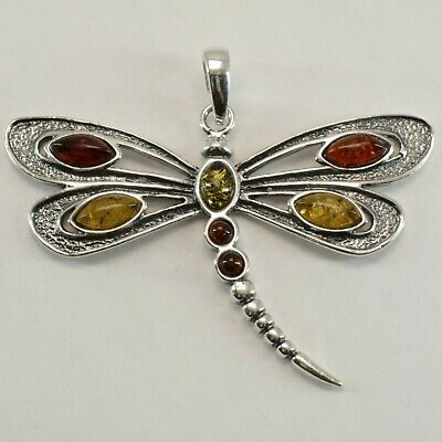 Details about  /Natural Multi-Color BALTIC AMBER Round Star Pendant 925 STERLING SILVER #4430