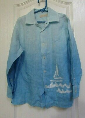 Boys Formal Shirt With Long Sleeved Button Down Collar Dominic Stefano 2-12 Year