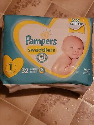 Pampers Swaddlers - Size 1 - 8-14 Lbs - Disposable Diapers - 32 Pack