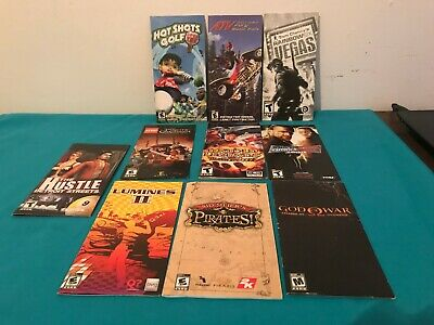 Bundle of SONY PSP game art sleeves & FRENCH manuals